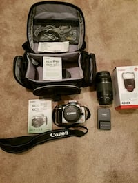 black and gray Canon DSLR camera set Bristow