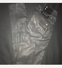 Black G STAR RAW BLACK PANTS wax pants - size 24 in great condition