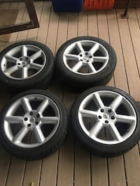350z wheels with snow tires still like new
