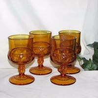 "INDIANA GLASS KINGS CROWN GOBLETS 4 3/8"" GLASSES  Mississauga"