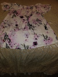 white and purple floral textile NEWYORK