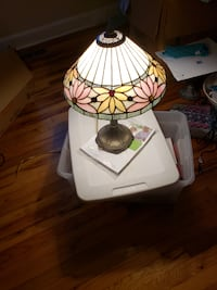 white and green table lamp Columbia