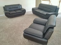 Black 3 Piece Sofa Set Atlanta, 30315
