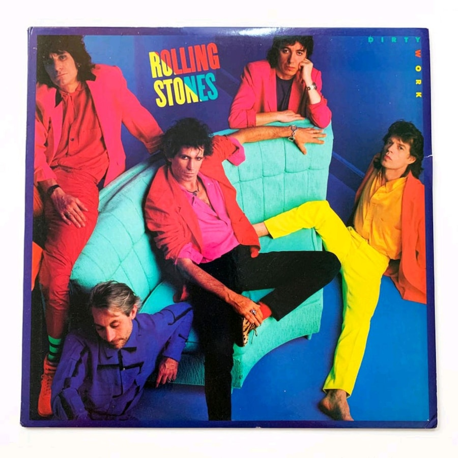 Photo Used record album-the rolling stones -dirty work