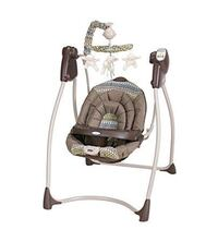 brown and white mobile swing