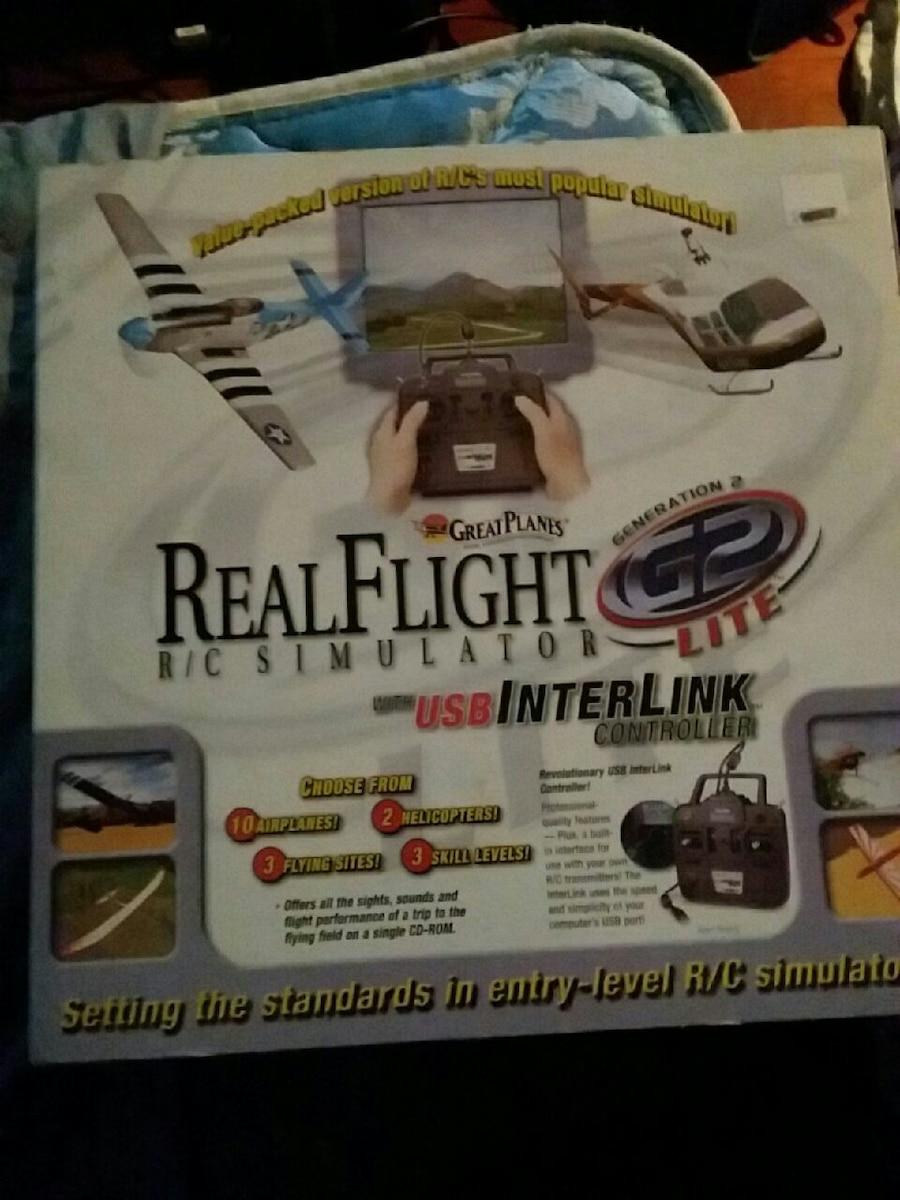Real Flight R/C simulator box