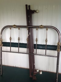 """Full size metal headboard with rails. 53""""w x 49""""h. Pick up only West Toledo Toledo, 43613"""