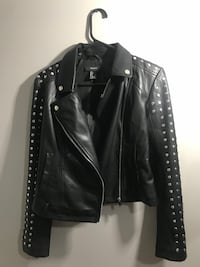 Leather jacket black size small Laval, H7T 1W8