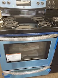 blue and black coil top range oven Clayton, 27520