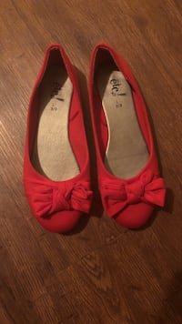 pair of red leather flats Duson, 70529