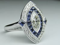 Women's Silver Ring with Blue Sapphire  Toronto, M6B 1Y3