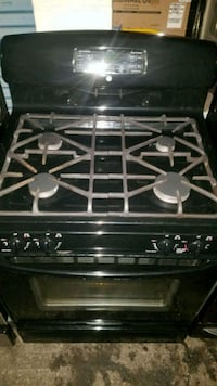 black and gray 4-burner gas range oven Temple Hills, 20748