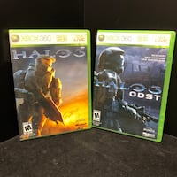 Halo 3 & Halo 3 ODST XBOX 360 Video Games