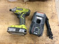 Ryobi p235 impact driver with battery P107 and charger P118 used . Baltimore, 21205
