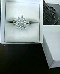 Silver & crystals size 7 ring. Like new! Edmonton, T5K 2A6