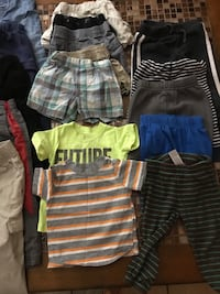 Boys clothes size 2 , assorted pants shirts shorts