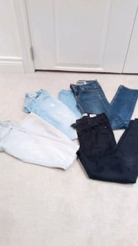 4 pairs of jeans (2Topshop,gap,siwy)
