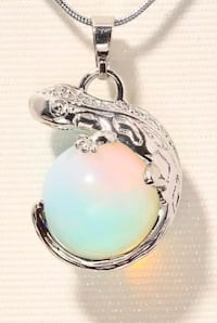 Moonstone 18 k white gold filled lizard for women jewelry gemstone pendant Stockholm, 162 54