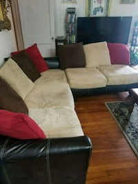 brown and black sectional couch San Antonio, 78214