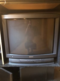 gray CRT television with remote Alsip, 60803