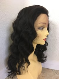 100 percent human hair 20 inch long wavy lace front