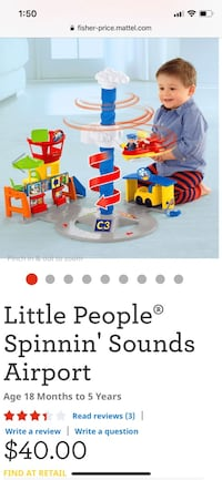 Little people airport toy for toddlers Edmond, 73003