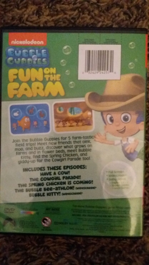 Nickelodeon BUBBLE GUPPIES Fun On The Farm (DVD)