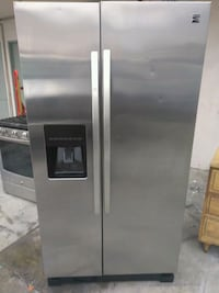 stainless steel side-by-side refrigerator with dispenser Hawthorne, 90250