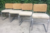Breuer Style Cane Back Chairs Set of 4  Cleveland, 44102