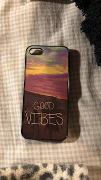 brown and black Good Vibes iPhone case Clinton, 20735