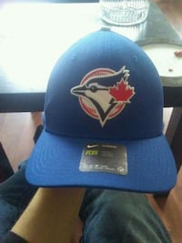 blue and red fitted cap Edmonton, T5H 1M3