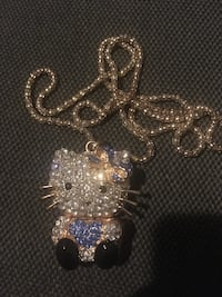 22 inch 10 karat gold plated chain with hello kitty charm Lewisville, 75067