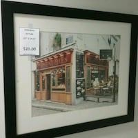 brown wooden framed painting of house Oakville, L6L 5N1