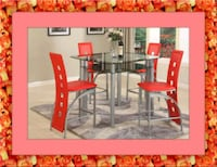 Red counter height table with 4 chairs Ashburn, 20147