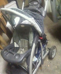 baby's gray and black stroller 623 km