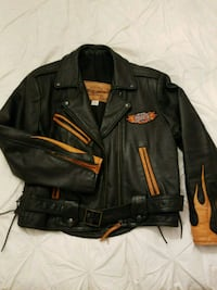 Lady Harley-Davidson leather zip-up jacket Waterford, N0E