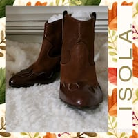 Isola Odin Leather Ankle Boots Hagerstown, 21740