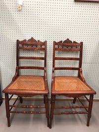 2 Cane chairs  St Charles