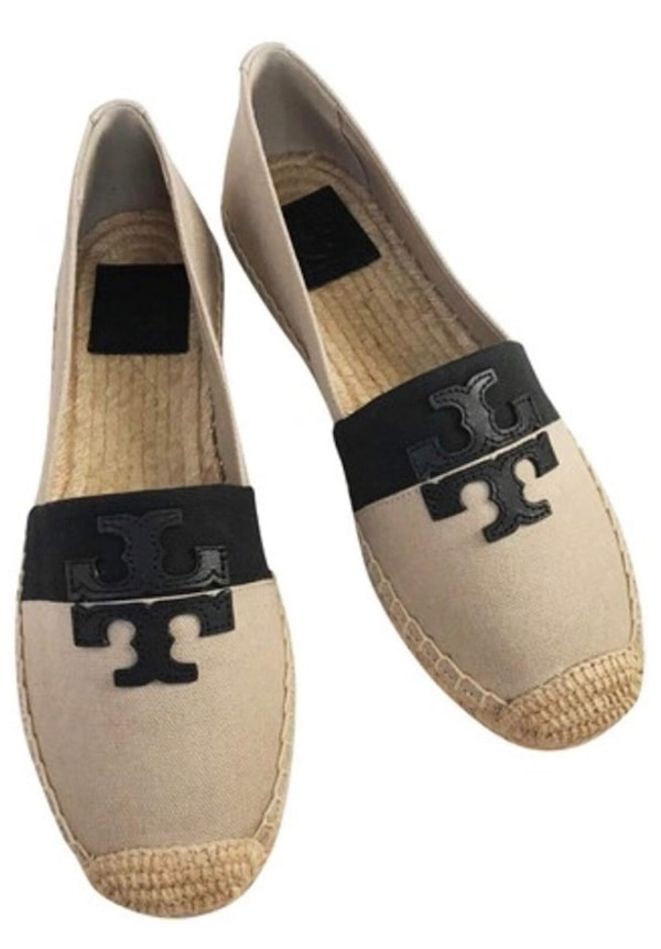 9b55bed6d Used Tory Burch Weston Flat Espadrille Canvas Leather Shoes for sale ...