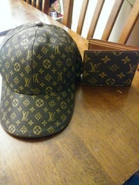 Louis vuitton hat and wallet