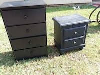 two black wooden 3-drawer chests San Antonio, 78207