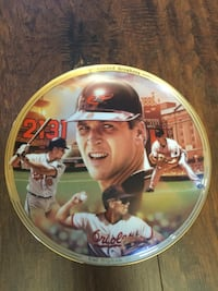 Cal Ripken 2131  commemorative plate Baltimore, 21206