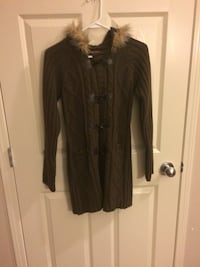 Brown braided buttoned cardigan Calgary, T3K 0G3