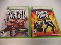 Guitar Hero 2 and Guitar Hero: World Tour (XBOX 360) Burlington