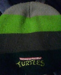 green, gray and black with TMNT embroidered beanie
