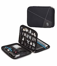 Electronics Organizer, Double Layer Travel Bag Accessories Organizer