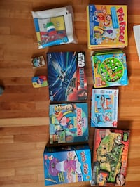 Kids assorted board games