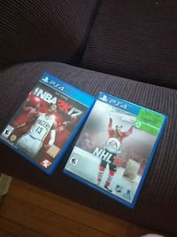 two Sony PS4 game cases Windsor