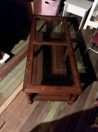Wood glass top coffee table Hagerstown