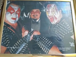 WWF DEMOLITION MR FUJI FRAMED PICTURE WWE